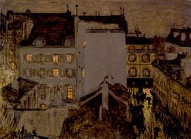 Montmartre in the rain (Street Tolose)