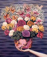 Хигинио Маллебрера. Букет нежных роз