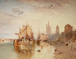 Joseph Mallord William Turner. Cologne, the arrival of the steamer. The evening