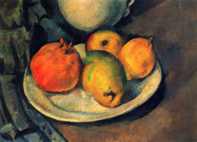 Paul Cezanne. Still life with pomegranate and pears