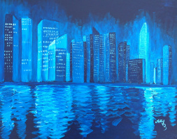 Lumay. Blue night