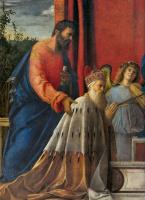 Джованни Беллини. Алтарь Барбариго. Фрашгмент. Дож Барбариго, Святой Иоанн и музицирующие ангелы