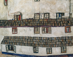 Egon Schiele. The facade of the house (Windows)