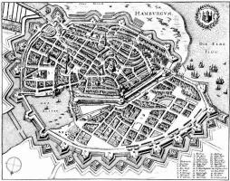 Маттеус Мериан Старший. Гамбург, панорамный план