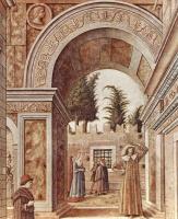 Карло Кривелли. Благовещение со святым Эмидием в Асколи Пичено. Фрагмент
