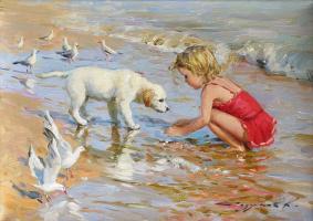 Constantine Razumov. On the coast of Trouville.