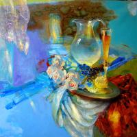 Evgeny Anatoleviz Babushkin. Голубой натюрморт