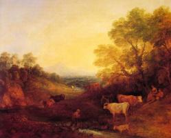 Томас Гейнсборо. Пейзаж с крупным рогатым скотом