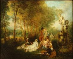 Antoine Watteau. The feast of love