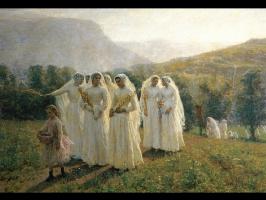 Жюль Бретон. Молодые женщины отправляясь в шествие