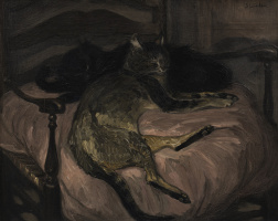 Теофиль-Александр Стейнлен. Две дремлющие кошки
