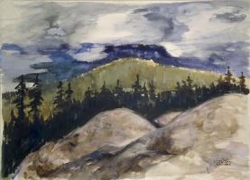 Тихо Тарви Кули. Холмистый пейзаж с валунами