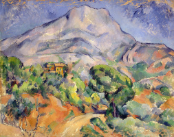 Paul Cezanne. Road at the mount of St. Victoria (Sainte Victoire)