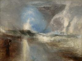 Джозеф Мэллорд Уильям Тёрнер. Ракеты и голубые огни предупреждают пароходы о мелководье