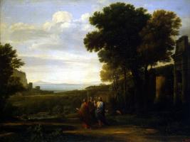 Желле Клод. Христос на пути в Эммаус