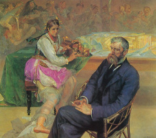 Jacek Malchevsky. Portrait of Adam Asnyka with the Muse