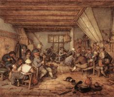 Адриан ван Остаде. Пир крестьян в таверне
