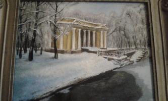 The pavilion of the Mihajlovsky garden