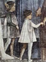Андреа Мантенья. Встреча герцога Лодовико Гонзага и кардинала Франческо Гонзага, фрагмент: сыновья кардинала Франческо Гонзага - Франческо и Сиги
