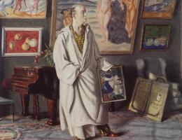 Борис Михайлович Кустодиев. Портрет Ф.Ф. Нотгафта (Коллекционер)