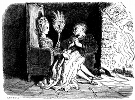 "Paul Gustave Dore. Illustration for ""Naughty stories"" Balzac"