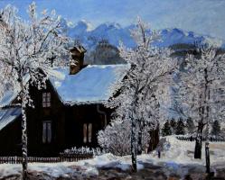 Lyudmila Nikolaevna Yevtushenko. Winter in Styria, Steiermark, Grubegg