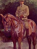 Генрих Вильгельм Трюбнер. Конный портрет