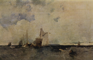 Richard Parkes Bonington. Sea view