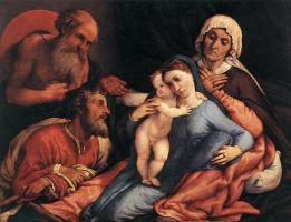 Лоренцо Лотто. Богоматерь с младенцем