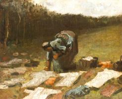 Винсент Ван Гог. Стирающая крестьянка