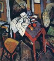 Андре Дерен. Натюрморт на красном столе