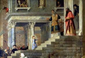 The introduction of Mary into the temple. Fragment 1
