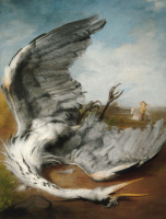 George Frederick Watts. A wounded Heron. 1837