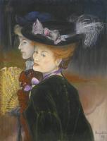 Луи Анкетен. Две дамы в лесу. 1889