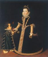 Sofonisba Angisola. Girl with a dwarf (Portrait of Margarita of Savoy)