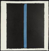 Barnett Newman. Canto II. American black and ultramarine
