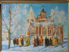 Religious procession in Kolomna.