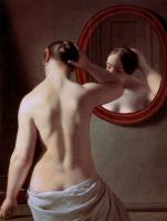 Кристофер Вильгельм Эккерсберг. Женщина перед зеркалом