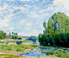 Alfred Sisley. Duck pond