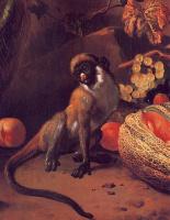 Мельхиор де Хондекутер. Обезьяна и фрукы
