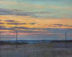 Oleg Borisovich Zakharov. Loneliness sunrise in malach.