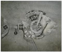 "Natalia Andreevna Korotaeva. Perch, Series ""Mechanical Aquarium"""