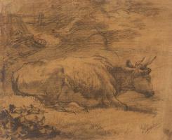 Thomas Gainsborough. Lying cow