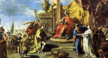Giovanni Battista Pittoni. The Magnanimity Of Scipio