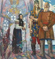 Павел Дмитриевич Корин. Старинный сказ. Правая часть триптиха «Александр Невский»