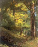 Гюстав Курбе. Двое оленей в лесу