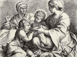 Аннибале Карраччи. Мадонна со святой Елизаветой и младенцем Иоанном Крестителем