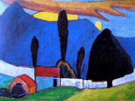 Габриель Мюнтер. Пейзаж с белой стеной