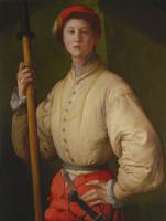 Якопо Понтормо. Портрет молодого человека с алебардой (Франческо Гварди?)
