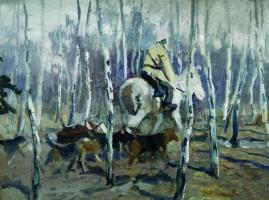 Алексей Степанович Степанов. С гончими на охоту